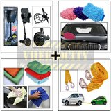Tow Cable With Microfiber Cloth, Microfiber Gloves & I Pop Smart Mobile Holder