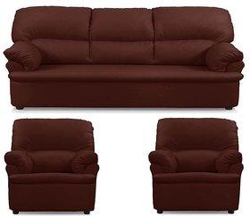 Earthwood -    Rafael Five Seater  Sofa Set (3+1+1) in Brown