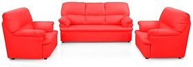Earthwood -   Mustang Five Seater  Sofa Set (3+1+1) in Red