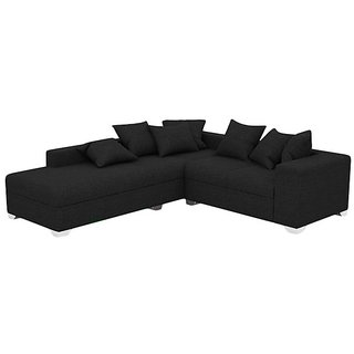 Earthwood -  Douglas L Shape Sofa Set with Lounger in Black