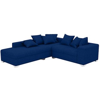 Earthwood - Seahawk L Shape Sofa Set with Lounger in Blue