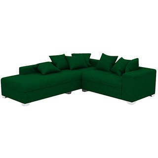 Earthwood -  Charles  L Shape  Sofa Set with Lounger in green