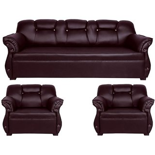 Earthwood Spartan Five Seater Sofa (3+1+1) in Brown