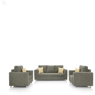 Earthwood -  Fully Fabric Upholstered Sofa Set 3+1+1 - Premium Valencia Sand