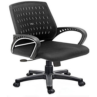 Earthwood -Marc Track Arms Metal And Plastic Office Chairs - Black