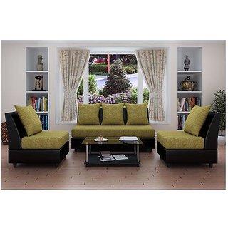 Earthwood -  Cameroon  Five  Seater Sofa (3+1+1) in Green