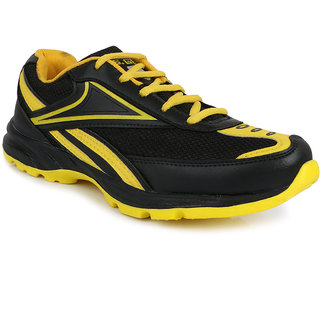 U.S Gear Men's Black & Yellow Lace Sport Shoes