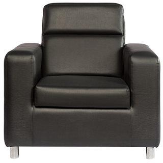 Scotty  Travis Antonio Black Leatherette (3+1+1) Seater King Size Sofa Set