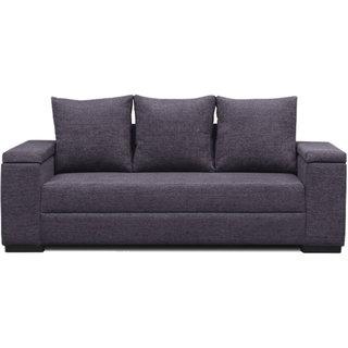 Scotty  Travis Agneta Grey Fabric 3 Seater Queen Size Sofa Set