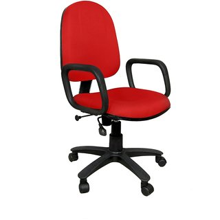 Earthwood - Moon Revolving Office Chair Red