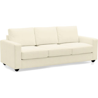Scotty  Travis Alberto White Fabric 3 Seater King Size Sofa Set