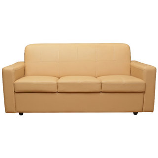 Scotty  Travis Supremo Cream Leatherette 3 Seater King Size Sofa Set