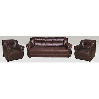 Earthwood -Brooklyn Leatherite 5 Seater Sofa Set (3+1+1)