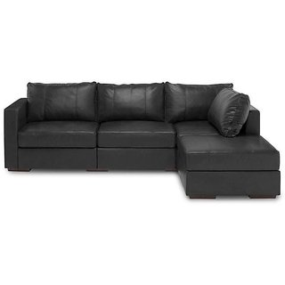 Earthwood -Michelle L Shape Leatherite sofa with Left Chaise Lounge