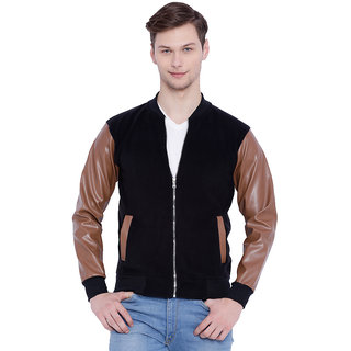 Campus Sutra Black Casual Jacket