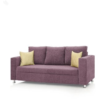 Earthwood -  Fully Fabric Upholstered Three-Seater Sofa - Classic Valencia Mauve