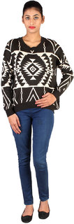 Lee Women's Black and Pink Sweater