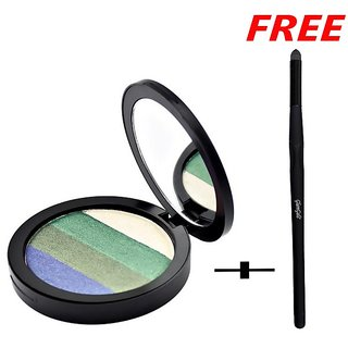 GlamGals QE05 Eyeshadow Multicolor 20g with free Sponge Eye shadow Brush