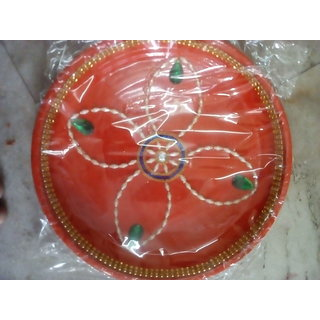Hand made decorated puja thali