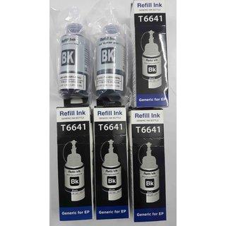 RETILL INK BOTTEL FOR EPSON  L100/L110/L200/L210/L220/L300/L350/L355/L365/L550/L565 (BLACK) PIC(4) High  Quality Compatible
