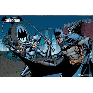 Hungover Batman And Catwomen Urban Legend Official Comics Special Paper Poster (12x18 inches)