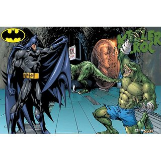 Hungover Batman And Killer Croc The Urban Legend Official Artwork Special Paper Poster (12x18 inches)