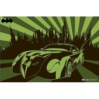 Hungover Batmobile Dcb Cool Trax Artwork Special Paper Poster (12x18 inches)