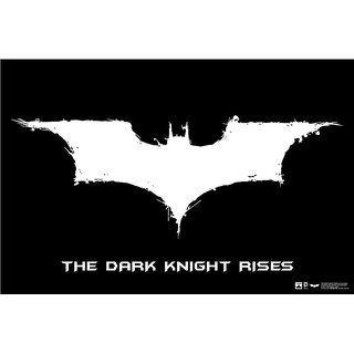 Hungover Batman Logo The Dark Knight Rises Special Paper Poster (12x18 inches)