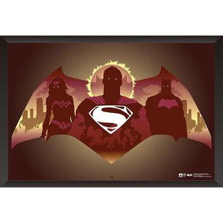 Hungover Batman Vs Superman Logo Artwork Special Paper Poster (12x18 inches)