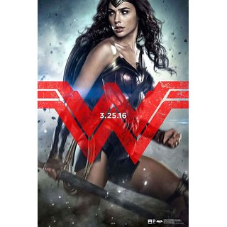 Hungover Wonder Women Batman Vs Superman Official Artwork Special Paper Poster (12x18 inches)