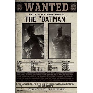Hungover Wanted Batman Poster Arkham Origins Special Paper Poster (12x9 inches)