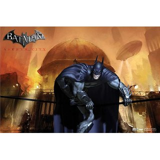Hungover Batman Arkham City Artwork Special Paper Poster (12x9 inches)