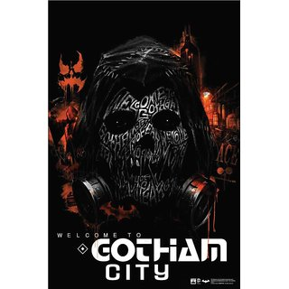 Hungover Gotham City Artwork Special Paper Poster (12x9 inches)