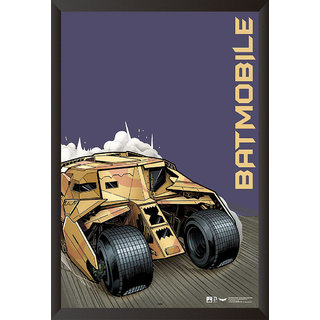 Hungover Batmobile The Dark Knight Rises Official Artwork Special Paper Poster (12x18 inches)