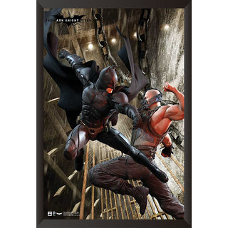 Hungover Batman And Bane Poster The Dark Knight Rises Artwork Special Paper Poster (12x18 inches)