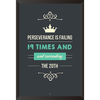 Perseverance Is Failing Quote Poster