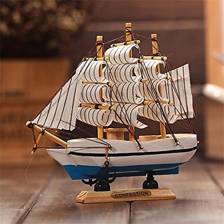 Sea's Lucky Wooden Handcrafted Ship-18 cm