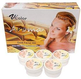V-Color Aroma Gold Facial Kit 270 g (5 Steps)