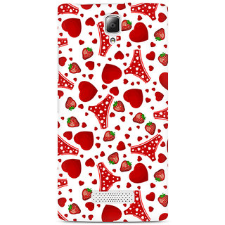CopyCatz Panties and Strawberry Premium Printed Case For Lenovo A2010