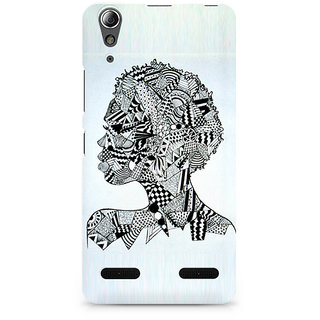 CopyCatz Afro Girl Doodle Premium Printed Case For Lenovo A6000