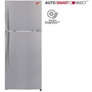 LG GL-I302RPZL 284 L Frost Free Double Door Refrigerator - Silver Steel