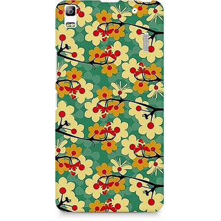 CopyCatz Flower Pattern Premium Printed Case For Lenovo A7000