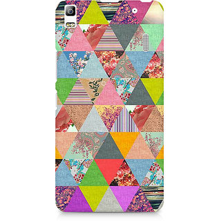 CopyCatz Colorful Triangles Premium Printed Case For Lenovo A7000