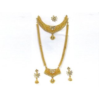 Gold Plated Gold Alloy Necklace Set For Women
