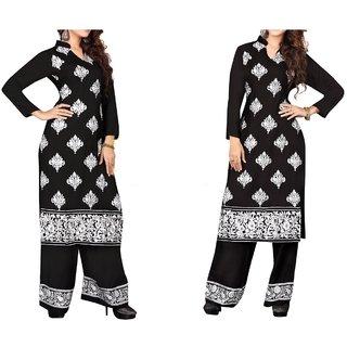 Women Black Pure Cotton Palazzo Suit