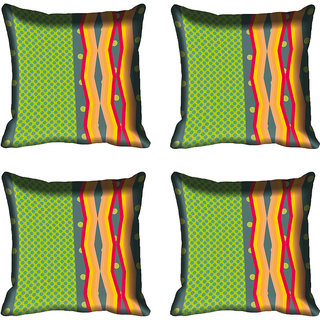 meSleep Abstract Digitally Printed Cushion Cover (18x18)