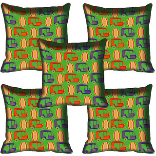 meSleep Green Car Digitally Printed Cushion Cover (18x18)