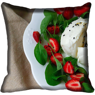 meSleep Food Digitally Printed Cushion Cover (18x18)
