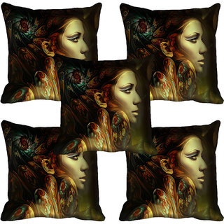 meSleep Lady Digital printed Cushion Cover (18x18)
