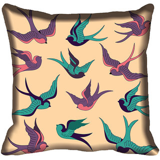 meSleep Birds Digital Printed Cushion Cover (18x18)